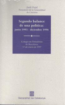SEGUNDO BALANCE DE UNA POLTICA: JUNIO 1995 - DICIEMBRE 1996
