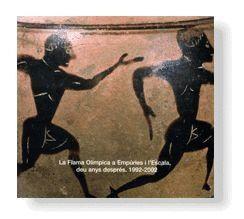 FLAMA OLIMPICA A EMPURIES I L´ESCALA, DEU ANYS DESPRES, 1992-2002, LA CATALEG DE L´EXPOSICIO REALITZ