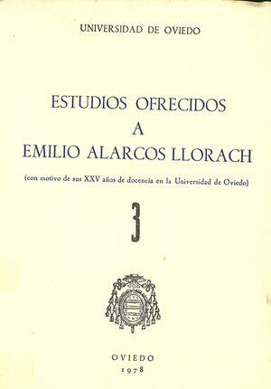 ESTUDIOS OFRECIDOS A EMILIO ALARCOS LLORACH TOMO III