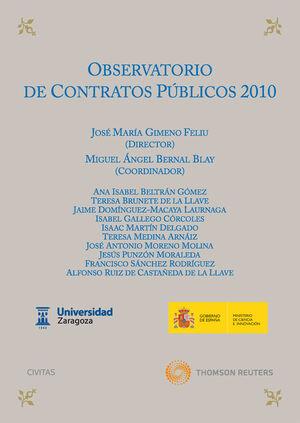 OBSERVATORIO DE CONTRATOS PÚBLICOS 2010