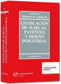 LEGISLACIÓN DE MARCAS, PATENTES Y DISEÑO INDUSTRIAL (PAPEL + E-BOOK)