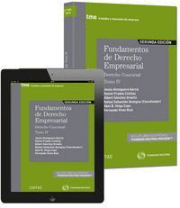 FUNDAMENTOS DEÁDERECHO EMPRESARIAL IV (PAPEL + E-BOOK) DERECHO CONCURSAL