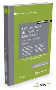 FUNDAMENTOS DE DERECHO EMPRESARIAL (II) (PAPEL + E-BOOK) DERECHO DE SOCIEDADES