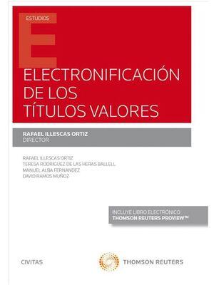 ELECTRONIFICACIÓN DE LOS TTULOS VALORES (PAPEL E-BOOK)