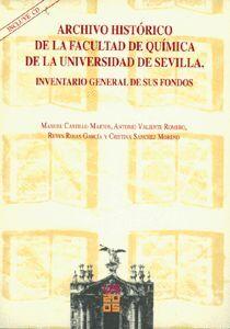 ARCHIVO HISTÓRICO DE LA FACULTAD DE QUÍMICA DE LA UNIVERSIDAD DE SEVILLA