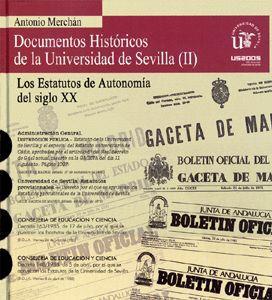DOCUMENTOS HISTÓRICOS DE LA UNIVERSIDAD DE SEVILLA (V CENTENARIO).