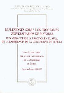 REFLEXIONES SOBRE LOS PROGRAMAS UNIVERSITARIOS DE MAYORES.