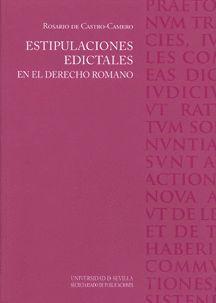 ESTIPULACIONES EDICTALES EN EL DERECHO ROMANO