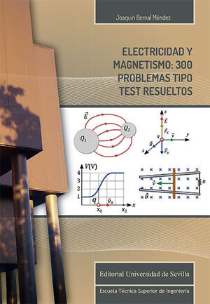 ELECTRICIDAD Y MAGNETISMO: 300 PROBLEMAS TIPO TEST RESUELTOS