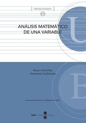 ANÁLISIS MATEMÁTICO DE UNA VARIABLE