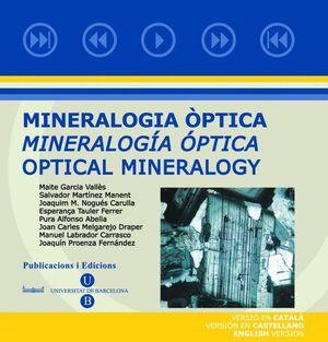 MINERALOGIA ÒPTICA. MINERALOGÍA ÓPTICA (CD-ROM) CATALÀ - CASTELLÀ - ANGLÈS