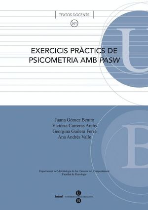 EXERCICIS PRÀCTICS DE PSICOMETRIA AMB PASW