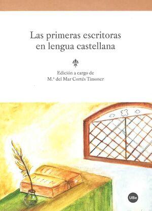 LAS PRIMERAS ESCRITORAS EN LENGUA CASTELLANA