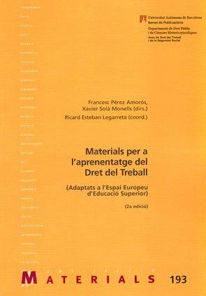 MATERIALS PER A L´APRENENTATGE DEL DRET DEL TREBALL