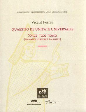 QUAESTIO DE UNITATE UNIVERSALIS
