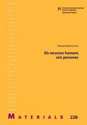 ELS RECURSOS HUMANS SÓN PERSONES