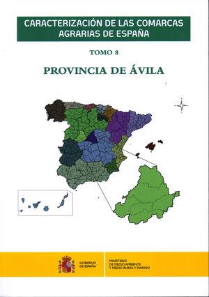 CARACTERIZACIÓN DE LAS COMARCAS AGRARIAS DE ESPAÑA. TOMO 8