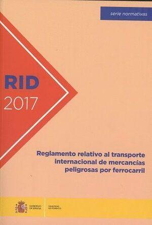 RID-2017 REGLAMENTO RELATIVO AL TRANSPORTE INTERNA
