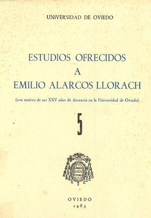 ESTUDIOS OFRECIDOS A EMILIO ALARCOS LLORACH TOMO V