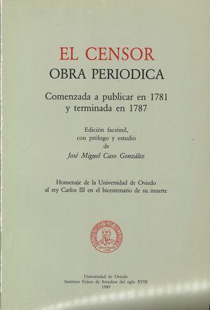 EL CENSOR, OBRA PERIÓDICA (RÚSTICA)