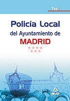 POLICÍA LOCAL DEL AYUNTAMIENTO DE MADRID.TEST