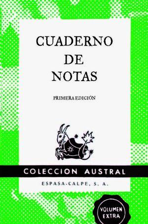 CUADERNO DE NOTAS VERDE 11,2X17,4