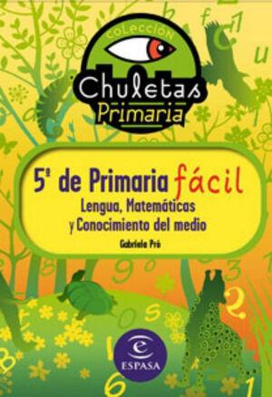5º DE PRIMARIA FÁCIL. LIBRO DE CONTENIDOS
