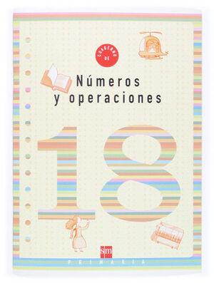 CUADERNO 18 DE NÚMEROS Y OPERACIONES. 6 PRIMARIA