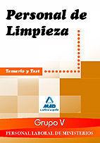 PERSONAL LABORAL MINISTERIOS (GRUPO V). PERSONAL DE LIMPIEZA. TEMARIO Y TEST