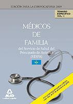 MÉDICOS DE FAMILIA DEL SERVICIO DE SALUD DEL PRINCIPADO DE ASTURIAS (SESPA). TEMARIO ESPECÍFICO. VOLUMEN II