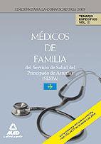 MÉDICOS DE FAMILIA DEL SERVICIO DE SALUD DEL PRINCIPADO DE ASTURIAS (SESPA). TEMARIO ESPECÍFICO. VOLUMEN III