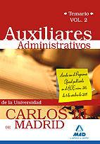 AUXILIAR ADMINISTRATIVO DE LA UNIVERSIDAD CARLOS III DE MADRID. TEMARIO VOL 2.