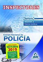 INSPECTORES DEL CUERPO NACIONAL DE POLICÍA. TEMARIO VOLUMEN II. CIENCIAS JURÍDICAS.