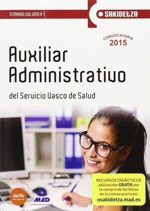 AUXILIAR ADMINISTRATIVO DE OSAKIDETZA-SERVICIO VASCO DE SALUD.