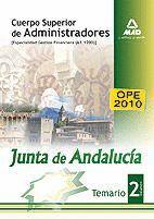 CUERPO SUPERIOR DE ADMINISTRADORES [ESPECIALIDAD GESTIÓN FINANCIERA (A1 1200)] DE LA JUNTA DE ANDALUCÍA. TEMARIO. VOLUMEN II