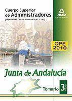 CUERPO SUPERIOR DE ADMINISTRADORES [ESPECIALIDAD GESTIÓN FINANCIERA (A1 1200)] DE LA JUNTA DE ANDALUCÍA. TEMARIO. VOLUMEN III