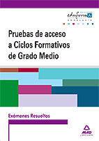 EXÁMENES RESUELTOS DE PRUEBAS DE ACCESO A CICLOS FORMATIVOS DE GRADO MEDIO. ANDALUCÍA