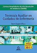 TÉCNICO ESPECIALISTA EN CUIDADOS AUXILIARES DE ENFERMERÍA DE CENTROS HOSPITALARIOS DE ALTA RESOLUCIÓN DE ANDALUCÍA (CHARES). TEST ESPECÍFICO.