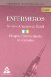 ENFERMEROS, SERVICIO CANARIO-HOSPITAL UNIVERSITARIO DE CANARIAS. SIMULACROS DE EXAMEN ...CANARIAS -S