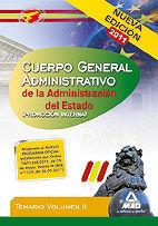 CUERPO GENERAL ADMINISTRATIVO DE LA ADMINISTRACIÓN DEL ESTADO (PROMOCIÓN INTERNA). TEMARIO VOL.II