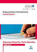 EXÁMENES RESUELTOS DE PRUEBAS DE ACCESO A CICLOS FORMATIVOS DE GRADO SUPERIOR. PARTE ESPECÍFICA. OPCIÓN C. ANDALUCÍA