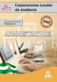 ADMINISTRATIVOS VOL.2 CORPORACIONES LOCALES ANDALUCIA 2011 TEMARIO GENERAL