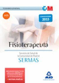 FISIOTERAPEUTA DEL SERVICIO DE SALUD DE LA COMUNIDAD DE MADRID. TEMARIO GENERAL