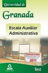 ESCALA AUXILIAR ADMINISTRATIVA, UNIVERSIDAD DE GRANADA. TEST