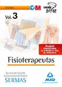 FISIOTERAPEUTAS SERVICIO SALUD COMUNIDAD MADRID SERMAS TEMARIO VOL III