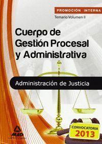 CUERPO DE GESTIÓN PROCESAL Y ADMINISTRATIVA DE LA ADMINISTRACIÓN DE JUSTICIA (PR JUSTICIA PROMOCION