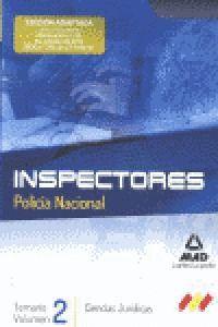 INSPECTORES POLICIA NACIONAL TEMARIO VOL. 2 CIENCIAS JURIDICAS TEMARIO, VOL. 2: CIENCIAS JURDICAS