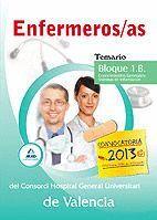 ENFERMEROS/AS DEL CONSORCI HOSPITAL GENERAL UNIVERSITARI DE VALENCIA. TEMARIO. BLOQUE 1.A.CONOCIMIENTOS GENERALES: NORMATIVA, ORGANIZACIÓN Y GESTIÓN