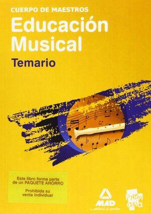 PAQUETE AHORRO  MAESTROS MUSICAL (TEMARIO + PROGRAMACIÓN + VOLUMEN PRÁCTICO)