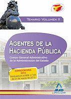 AGENTES DE LA HACIENDA PÚBLICA. CUERPO  GENERAL ADMINISTRATIVO DE LA ADMINISTRACIÓN DEL ESTADO. TEMARIO VOLUMEN II